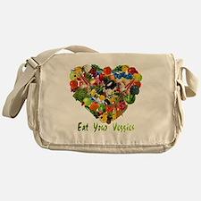 eat-your-veggies-white Messenger Bag