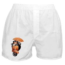 penguin-ver2-wide-black Boxer Shorts