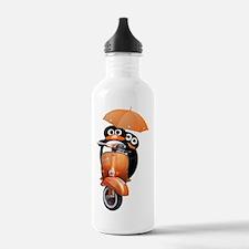 penguin-ver2-white Water Bottle