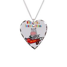 hippo-fire-truck-white Necklace