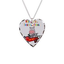 hippo-fire-truck-black Necklace