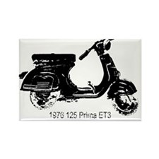 vespa-125-prima-black Rectangle Magnet