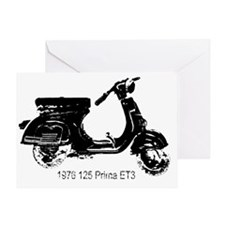 vespa-125-prima-black Greeting Card