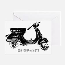 vespa-125-prima-black Greeting Card