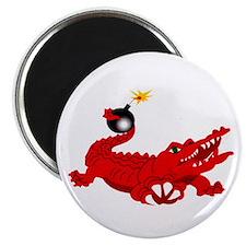 aligator-white-1800 Magnet