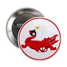 "aligator-red-1800 2.25"" Button"