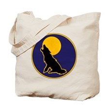wolf-round Tote Bag