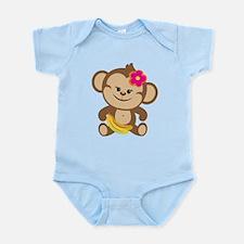 Girl Monkey Infant Bodysuit