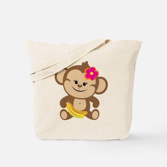 Girl Monkey Tote Bag