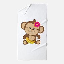 Girl Monkey Beach Towel