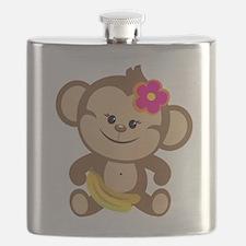 Girl Monkey Flask