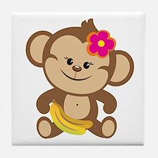 Girl Monkey Tile Coaster