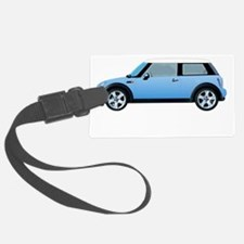 mini-cooper-blue-drive-black Luggage Tag