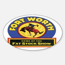 fort-worth-253 Sticker (Oval)