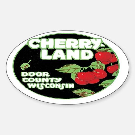 door-wisconsin-261 Sticker (Oval)