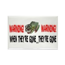 FROGS WARNING Rectangle Magnet