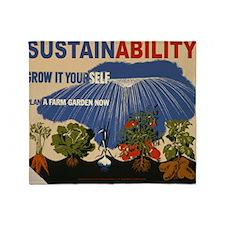 3f05737u-sustainability Throw Blanket