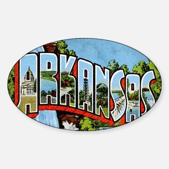 arkansas Sticker (Oval)