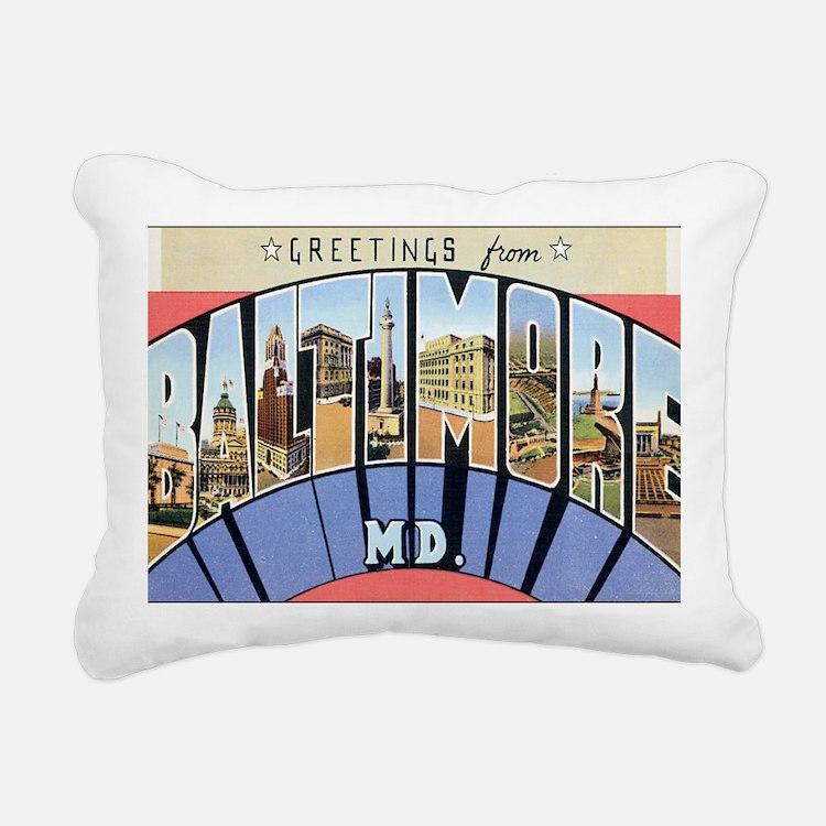 baltimore Rectangular Canvas Pillow