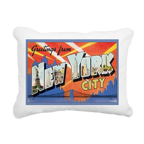 new-york Rectangular Canvas Pillow