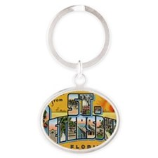 st-peters-3 Oval Keychain