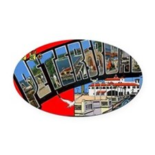 st-peters-4 Oval Car Magnet