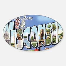 wisconsin Sticker (Oval)