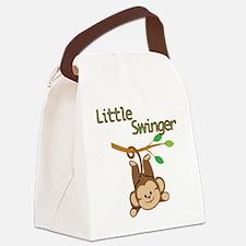 Boy Monkey Little Swinger Canvas Lunch Bag