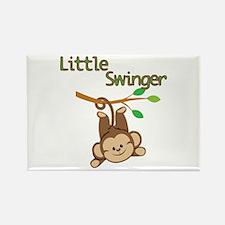 Boy Monkey Little Swinger Rectangle Magnet (10 pac