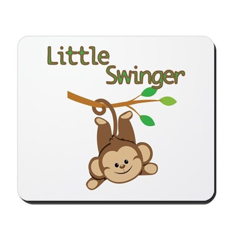 Boy Monkey Little Swinger Mousepad