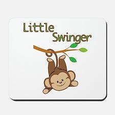 Boy Monkey Little Swinger Mousepad