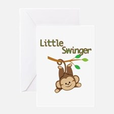 Boy Monkey Little Swinger Greeting Card