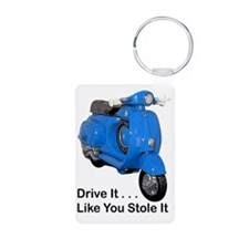 drive-it-stole-it-white Aluminum Photo Keychain