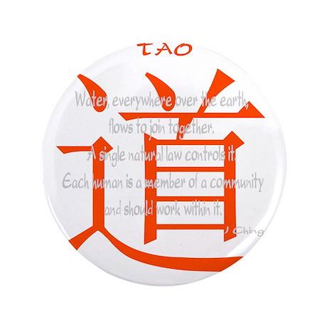 "tao-water-iching-black 3.5"" Button"