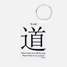 tao-time-be-still-white-1 Keychains