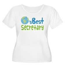Earths Best Secretary T-Shirt