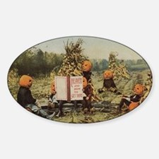 pumpkin-heads Sticker (Oval)