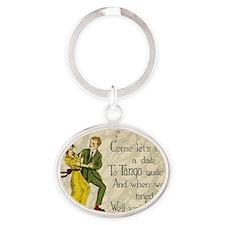 tango Oval Keychain