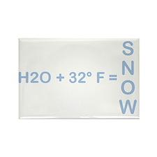 h2osnow-4 Rectangle Magnet