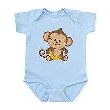 Boy Monkey Infant Bodysuit