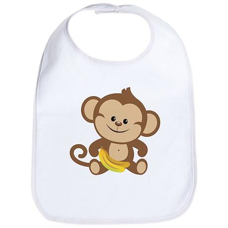 Boy Monkey Bib