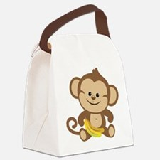 Boy Monkey Canvas Lunch Bag