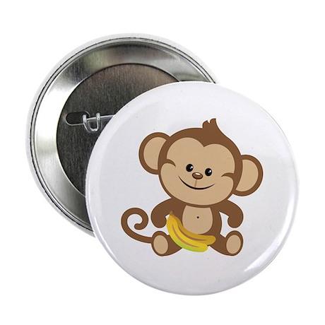 """Boy Monkey 2.25"""" Button (10 pack)"""