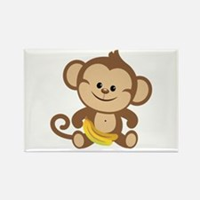 Boy Monkey Rectangle Magnet (10 pack)