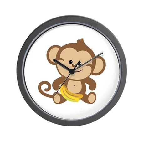 Boy Monkey Wall Clock