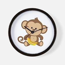 Boy Monkey Wall Clock