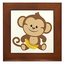 Boy Monkey Framed Tile