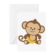Boy Monkey Greeting Card
