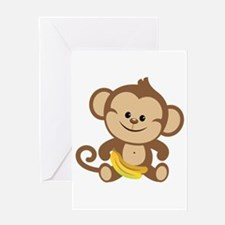 Boy Monkey Greeting Card