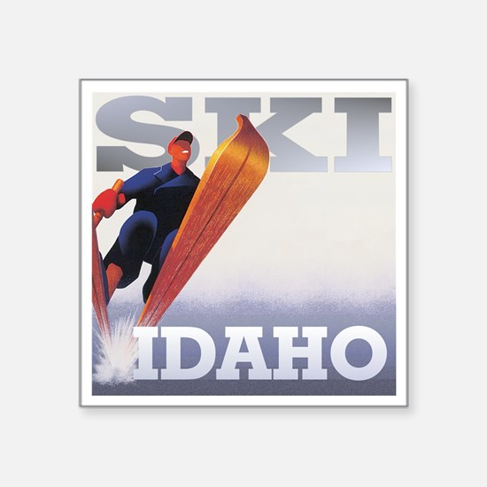 "snow2-2000x2000idaho Square Sticker 3"" x 3"""